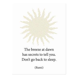 Rumi Morgen-Poesie Postkarte