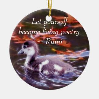 Rumi werden lebenpoesie keramik ornament