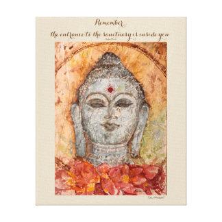 Rumi Zitat-Buddhawatercolor-Leinwand-Wand-Kunst Leinwanddruck