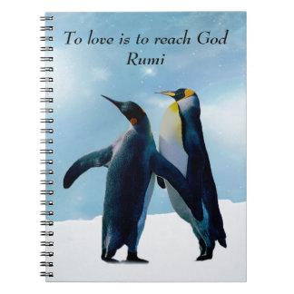 Rumi zur Liebe ist, Gott zu erreichen Spiral Notizblock