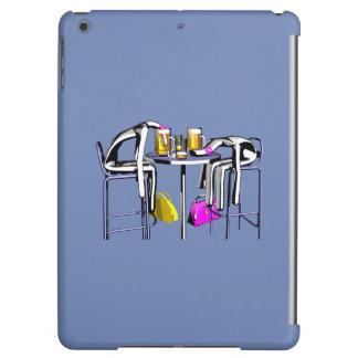 Rumpf Hiebe von blauer Bar Frau 4 iPad