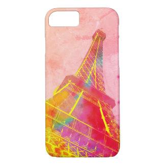Rumpf Paris Tour Eiffel rosige Pop- Kunst iPhone 8/7 Hülle