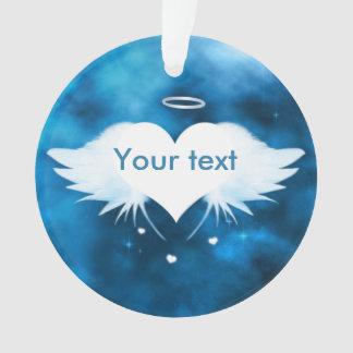 Runde Acrylverzierung - Engel des Herzens Ornament