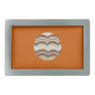 Runde beige Mosaik-Rechteck-Gürtelschnalle Rechteckige Gürtelschnalle