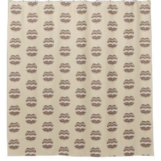 Runde beige Mosaik-Vorhang-Dusche Duschvorhang