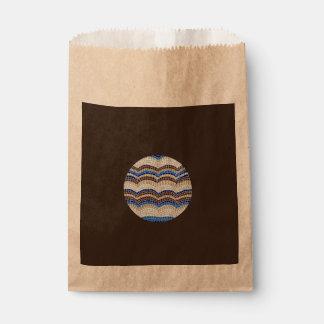Runde blaue Mosaik-Bevorzugungs-Tasche Geschenktütchen