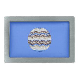 Runde blaue Mosaik-Rechteck-Gürtelschnalle Rechteckige Gürtelschnalle