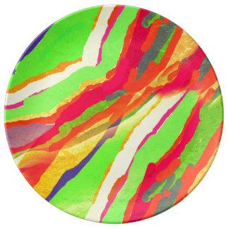Runde dekorative Porzellan-Platte Teller