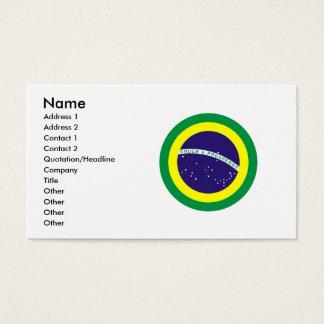 Runde Flagge Brasiliens Visitenkarte