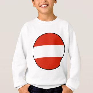 Runde Flagge Österreichs eingefaßt Sweatshirt