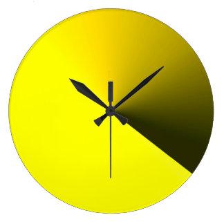 Runde gelbe Wand-Uhr für Zuhause-Dekorationen Große Wanduhr