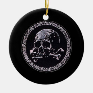 Runde Ikone des Vintagen Schädels Weihnachtsbaum Ornamente