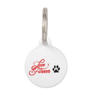 Runde kleine Haustier-Umbau-Liebe für immer Haustiermarke