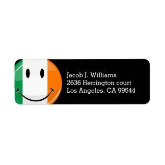 Runde lächelnde irische Flagge