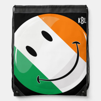 Runde lächelnde irische Flagge Sportbeutel