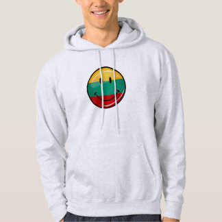 Runde lächelnde litauische Flagge Hoodie