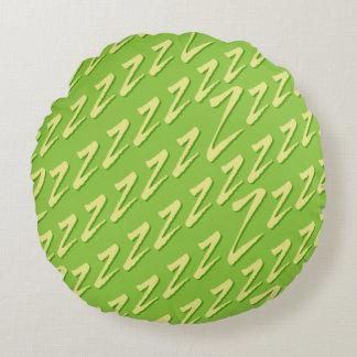 Runde Limone grüne anziehende z Rundes Kissen