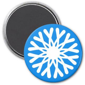 Runde Magnet-Schneeflocke Runder Magnet 7,6 Cm