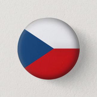Runde Tschechische Republik Runder Button 3,2 Cm