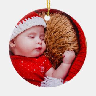 Runde Verzierung personalisiertes des Babys erstes Keramik Ornament