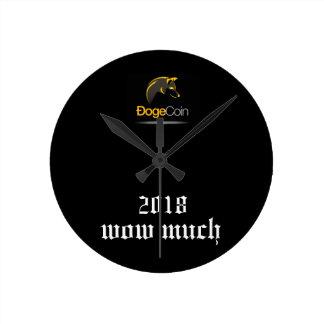 Runde Wanduhr Dogecoin 2018