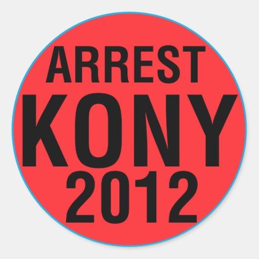 Runder Aufkleber der Festnahme-KONY 2012