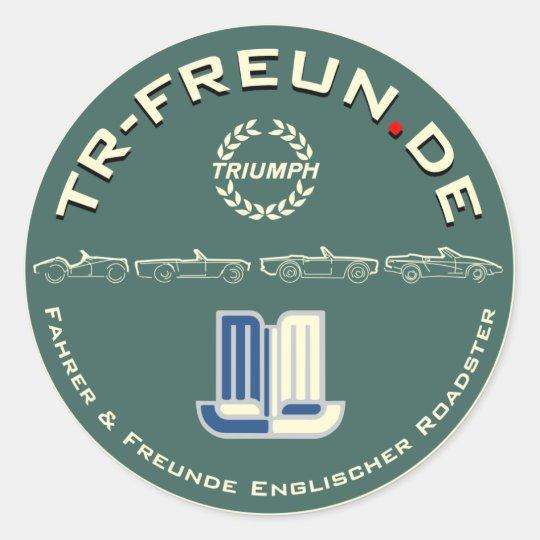 Runder Aufkleber TR-Freun.de