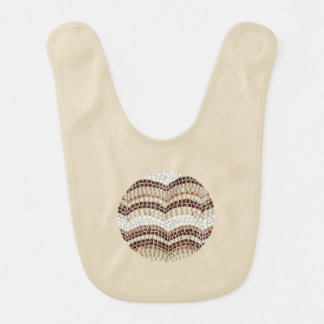 Runder beige Mosaik-Baby-Schellfisch Babylätzchen