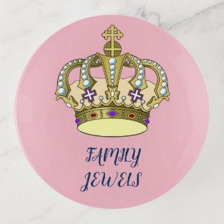 Runder Familien-Juwel-Behälter Dekoschale