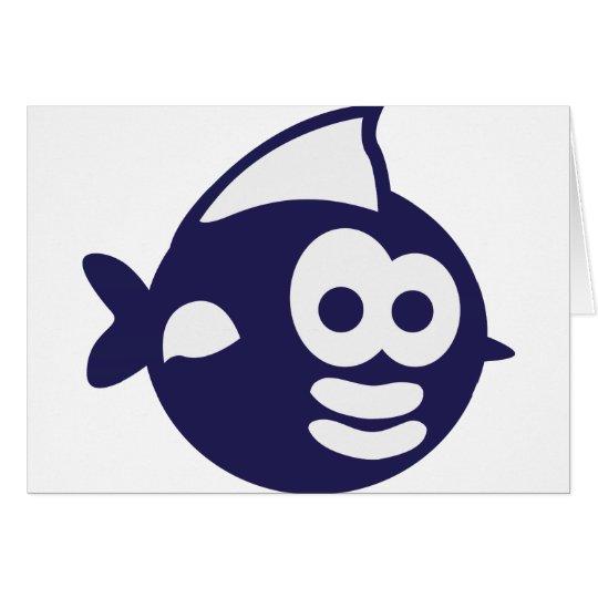 Runder Fisch fish Karte