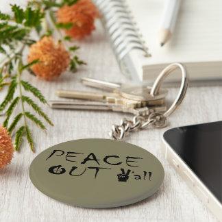 Runder Keychain Frieden heraus Sie Schlüsselanhänger