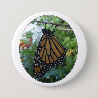 Runder Knopf 3 Zoll, Monarch-Art #1a Runder Button 7,6 Cm