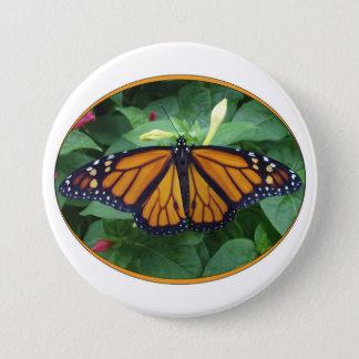 Runder Knopf 3 Zoll, Monarch-Art #3a Runder Button 7,6 Cm