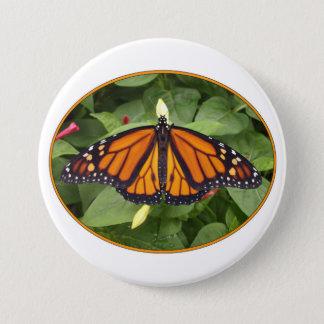 Runder Knopf 3 Zoll, Monarch-Art #4a Runder Button 7,6 Cm
