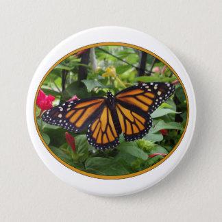 Runder Knopf 3 Zoll, Monarch-Art #5a Runder Button 7,6 Cm
