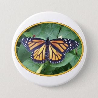 Runder Knopf 3 Zoll, Monarch-Art #6a Runder Button 7,6 Cm