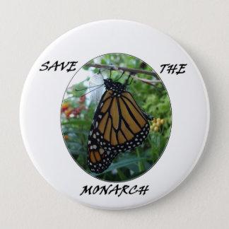 Runder Knopf 4 Zoll, Monarch-Art #1 Runder Button 10,2 Cm