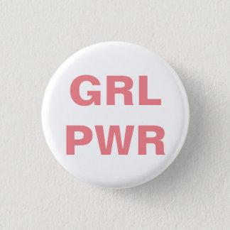 runder Knopf des feministischen Mädchen-Powers Runder Button 3,2 Cm