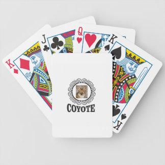 runder Kojote Bicycle Spielkarten