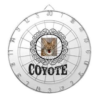 runder Kojote Dartscheibe