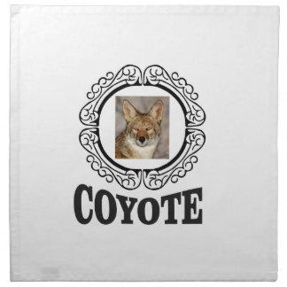 runder Kojote Stoffserviette