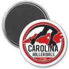 Runder Magnet Carolinas Rollergirls