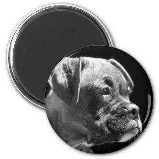 Runder Magnet des Boxerwelpen Magnete
