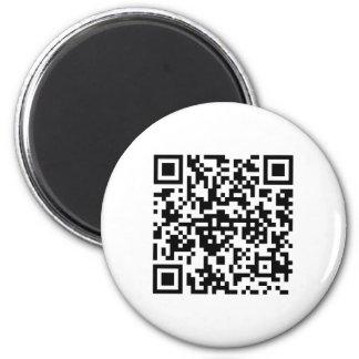 Runder Magnet mit QR-Code Magnets