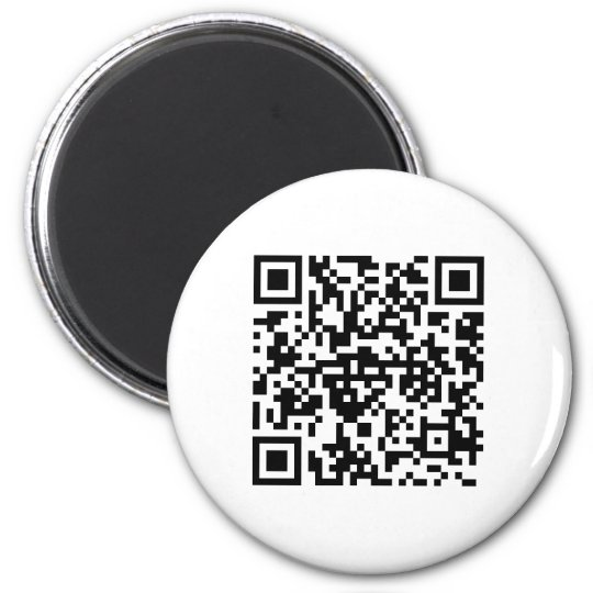 Runder Magnet mit QR-Code Runder Magnet 5,1 Cm