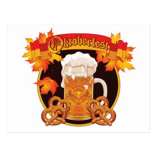 Runder Oktoberfest Feier-Entwurf Postkarte