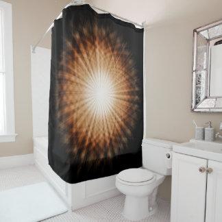 Runder orange abstrakter bernsteinfarbiger duschvorhang