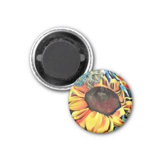 Runder Pastellsonnenblume-Magnet Runder Magnet 3,2 Cm