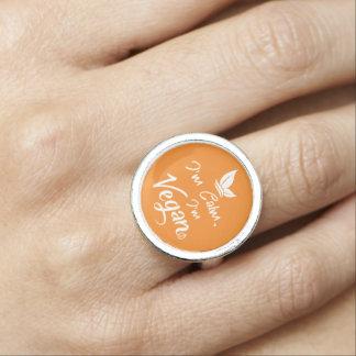 Runder Ring für stolze Vegans