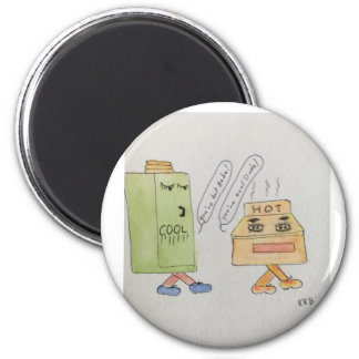 Runder Standardmagnet mit Comic Runder Magnet 5,7 Cm
